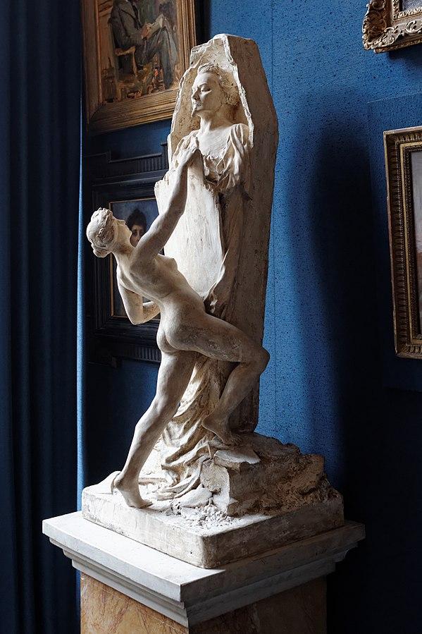 La Gloire tirant Auguste de Villiers de l'Isle Adam de son sommeil éternel