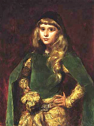 Bohemian style - Young Bohémienne: Natalie Clifford Barney (1875–1972) at the age of 10 (painting by Carolus-Duran)