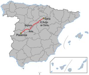 N-110 road (Spain) - Image: Carreteraesp n 110