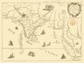 Carte des voyages de Mr Tavernier Jean-Baptiste dressée sur ses écrits, 17ème siècle.png