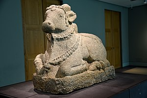 Nandi (bull) - Carved granite figure of Nandi, currently housed in the British Museum