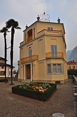 Mendrisio - Casa Croci, a villa built in 1873 as the town grew wealthy from factories.