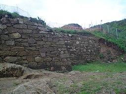 Vista parcial del muro del sureste.
