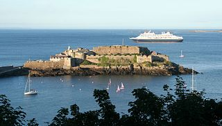 island castle in Guernsey