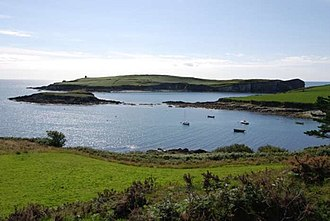 Battle of Castlehaven - Present day view of Castlehaven Bay
