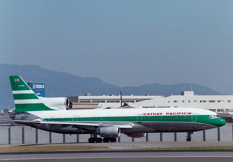 Cathay Pacific L-1011 at Osaka Airport