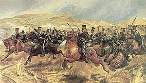 17th Lancers - 'Charge of the Light Brigade', Painting by Richard Caton Woodville (1825–1855)