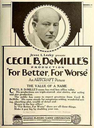 Cecil B. DeMille - Advertisement (1919)