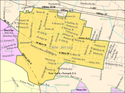 Census Bureau map of Somerville, New Jersey