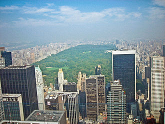 Urban ecology - Central Park represents an ecosystem fragment within a larger urban environment.