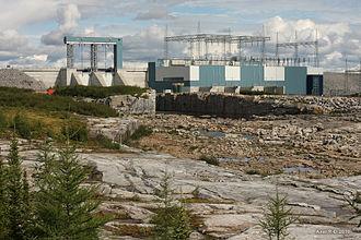 Laforge-2 generating station - Image: Centrale hydroélectrique Laforge 2