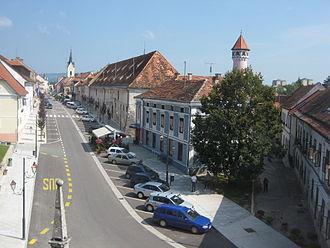 Brežice - Main street in Brežice