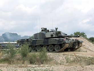 Hydropneumatic suspension - Challenger 2, main battle tank of the British army, uses hydropneumatic suspension for better crew comfort and increased firing accuracy