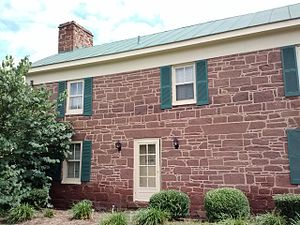 Chantilly, Virginia - The Stone House. The only building of the former Chantilly Plantation (not to be confused with the Sully Plantation) that still exists today. It is located on the north side of Route 50, across from the Greenbriar Shopping Center. Historical evidence strongly suggests the Stone House was an overseer's quarters before the Civil War, and became a tavern later.