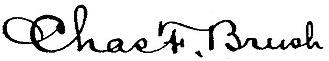 Charles F. Brush - Image: Charles F Brush signature