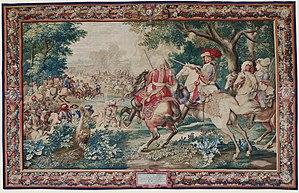 Adam Frans van der Meulen - The defeat of the Count of Marsin