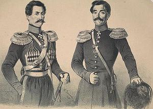 Chavchavadze - Georgian Prince Iakob Chavchavadze and Prince Bagrationi-Mukhraneli