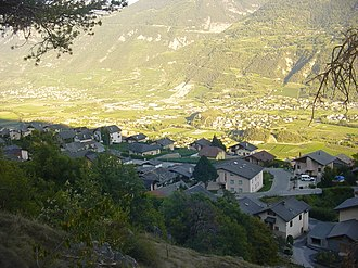 Lens, Switzerland - Chelin village in Lens