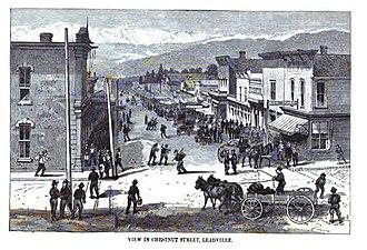 Leadville Historic District - Image: Chesnutstreetleadvil le 1880