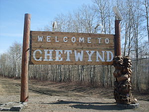 Chetwynd, British Columbia - Chetwynd's welcome sign