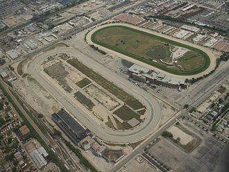 Chicago Motor Speedway - Aerial view of the speedway, after demolition of the grandstand, 2007.