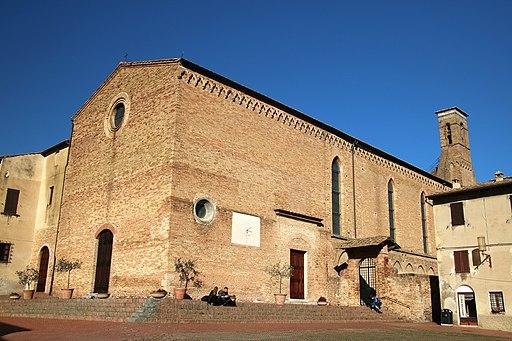 Chiesa di Sant'Agostino a San Gimignano, facciata