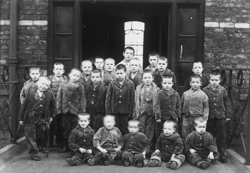 Children at crumpsall workhouse circa 1895