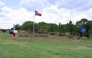 Childress, Texas - Image: Childress, Texas welcome sign