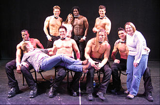 Chippendales - Chippendales dancers in Las Vegas with fans