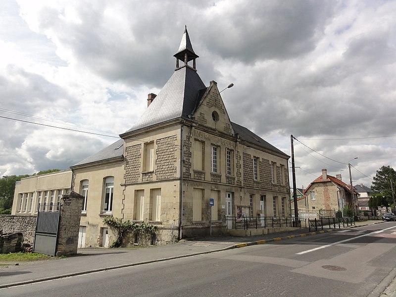 Chivy-lès-Étouvelles (Aisne) ancienne mairie - école