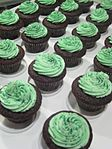 Chocolate Stout cupcakes with Bailey's Irish Cream frosting for St Patrick's Day.jpg