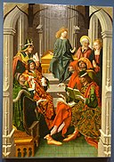 Christ Among the Doctors by Maestro Bartolomé, 1480-1488, oil on panel - University of Arizona Museum of Art - University of Arizona - Tucson, AZ - DSC08323.jpg