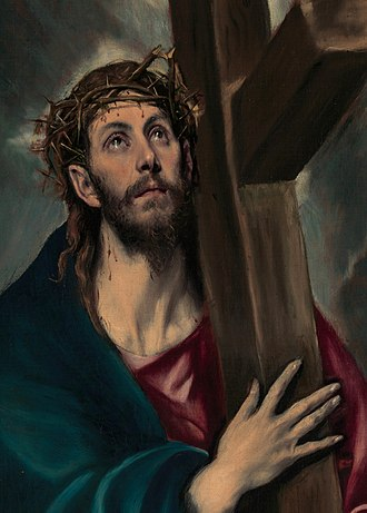 Crown of thorns - Christ Carrying the Cross as portrayed by El Greco, 1580