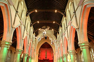 ChristChurch Cathedral, Christchurch - The nave of the cathedral in 2010