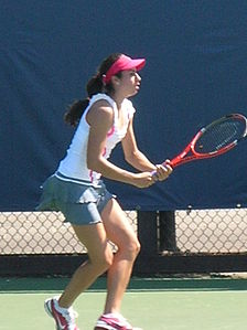 Christina McHale at Bank of the West Classic qualifying 2010-07-25 4.JPG