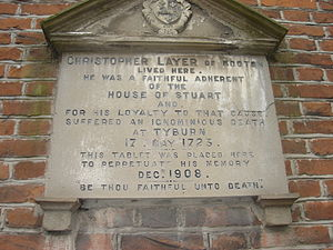 Christopher Layer - Aylsham, plaque to Christopher Layer.