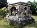 Church of Ss Mary & Lawrence - churchyard tomb at west 02.JPG