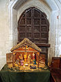 Church of St John, Finchingfield Essex England - North aisle door nativity scene.jpg