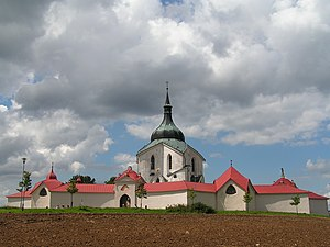 Pilgrimage Church of Saint John of Nepomuk at Zelená hora near Žďár nad Sázavou built in 1720s