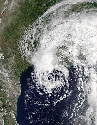 2017 Atlantic hurricane season - Image: Cindy 2017 06 21 1645Z
