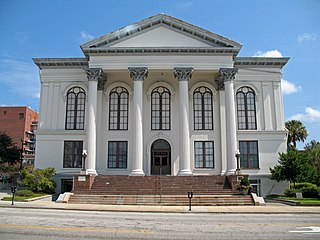 Thalian Hall city hall and theater in Wilmington, New Hanover County, North Carolina