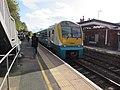 Class 175 dmu, platform 2, Leominster station (geograph 6306936).jpg