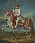Clemente XIV a cavallo di fronte a Castelgandolfo.jpg