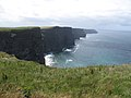 Cliffs of Moher - am Ziel nach 4 Stunden - O'Briens Tower Blick nach Hag's End - panoramio.jpg