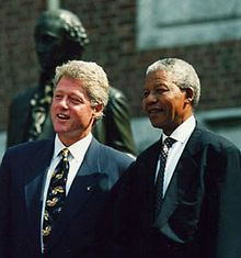 Bill Clinton e Nelson Mandela il 4 luglio 1993.
