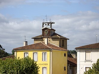 Mirande - Image: Clock Tower, Mirande, Gers, France
