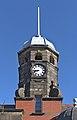 Clock tower of Carnegie Library, Crosby.jpg
