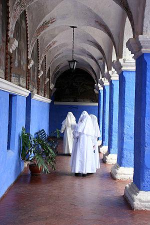 Santa Catalina Monastery - The cloister of St. Catherine Monastery.