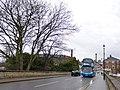 Coastliner crossing the Wharfe Bridge in Tadcaster (geograph 5729832).jpg