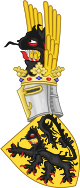 Coat of Arms of Flanders (according to the Gelre Armorial).svg